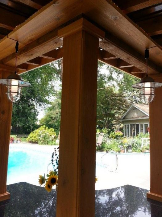 Wesson Builders Project Image - 2015 Poolside Bar – Rough Saw Cedar Framing
