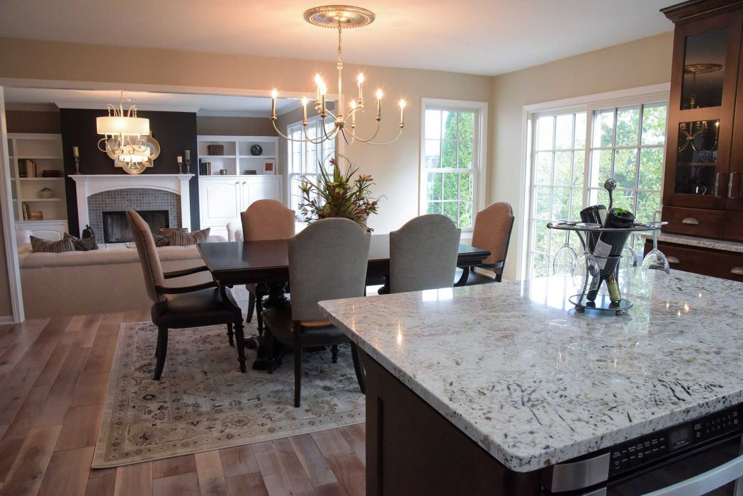 Project Highlights Include A Six Foot Addition Across The Entire Kitchen And Eat In Areas Off Back Of Home New Custom Cabinets